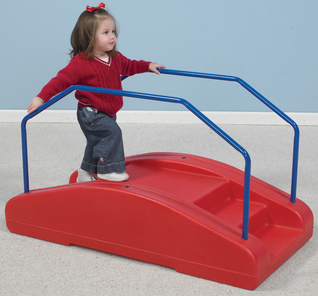 The Children's Factory Red Rocker/Toddler Bridge With