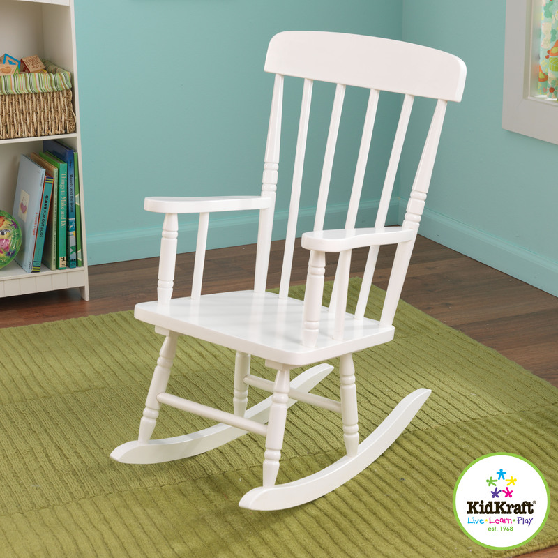 KidKraft® Spindle Rocking Chair: White :: Chairs :: Furniture ...