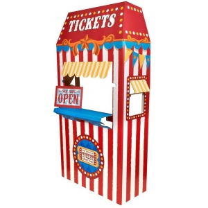 Advanced Graphics Ticket Booth Cardboard Stand Blue/Red/Yellow