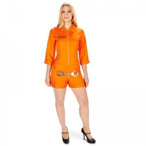Orange Prisoner Jumpsuit Adult Costume XS: X-Small, Everyday, Adult