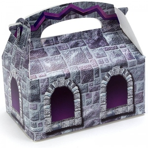 Stone Castle Empty Favor Boxes - Grey