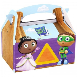 Super Why! Empty Favor Boxes (stock): Birthday