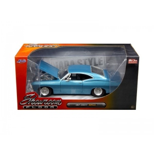 "1967 Chevrolet Impala Blue ""Showroom Floor"" 1/24 Diecast Model Car by Jada"