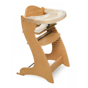 Badger Basket Embassy Adjustable Wood High Chair: Natural