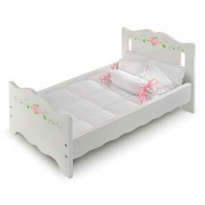 Badger Basket White Rose Doll Bed