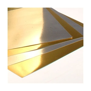 "Hygloss Metallic Foil Board: Gold, 20"" x 26"", 1 Sheet"