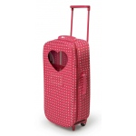Badger Basket Trolley Doll Travel Case with Rocking Bed and Bedding: Star Pattern